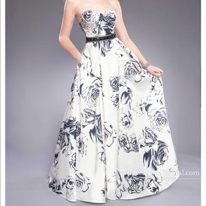 Floral Print Prom Gown. Mary's Bridal style #P3870